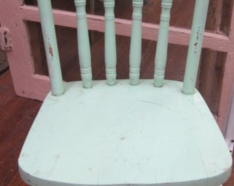 Hand Painted Child Children Kid Chair Farmhouse Chic Shabby Prairie