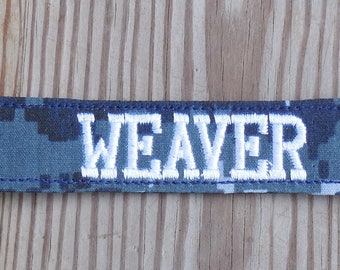 Military Name Tape or Name Patch Navy NWU Custom Name Tapes