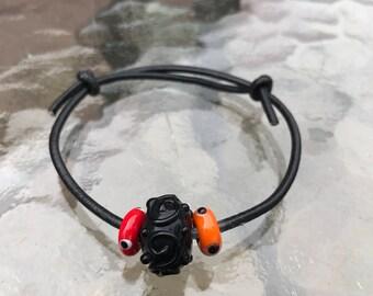 Glass Bead Slip Knot Bracelet