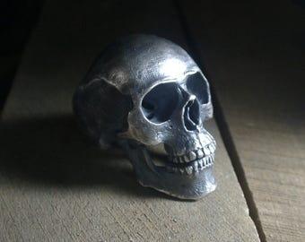 Full Human Skull Ring - Sterling Silver