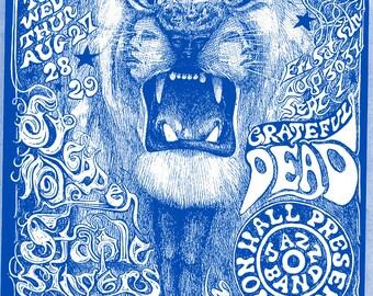 grateful dead / Santana A2 poster