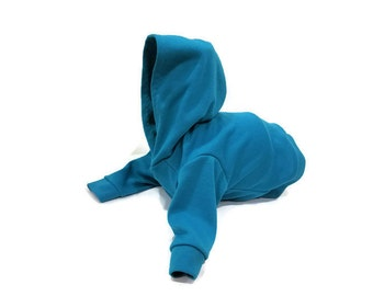 Cat Hoodie-Cat Clothes-Cat Clothing-Cat Sweater-Clothes for Cats-Cat Hoodies-Cat Shirt-Teal Cat Shirt-Shirts for Cats-Hoodies for Cats