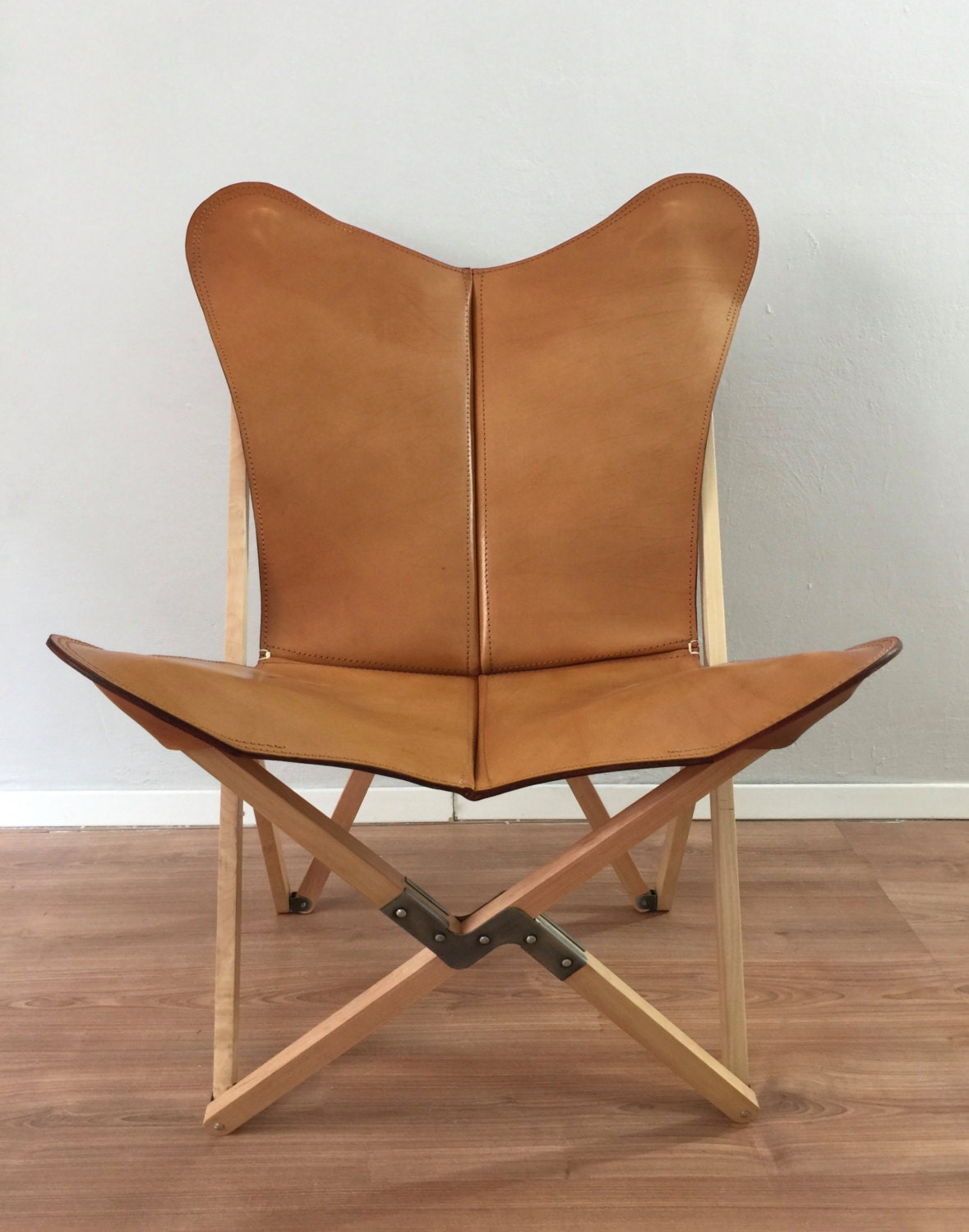 Butterfly chair original - Tripolina Butterfly Chair Premium Leather And Wood Folding Frame Chairs