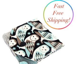Barn Owl Wallet, Small Womens Wallet, Travel Wallet, Minimalist Wallet Women, Fabric Wallet, Wallets For Women, Credit Card Wallet