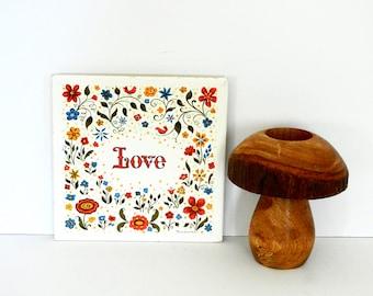 "Berggren ""Love"" Decorative Kitchen Tile or Trivet"