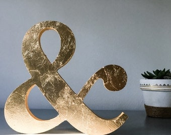 Gold Leaf Monogram Ampersand (&)