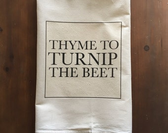 Turnip the Beet Flour Sack Tea Towel