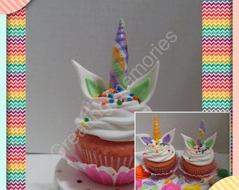 how to make a fondant unicorn horn