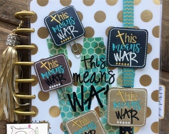 This Means War Plannerband/clip
