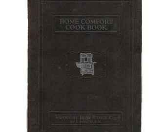 Vintage 1925 Home Comfort Cookbook Wrought Iron Range Company Cooking Canning Recipes