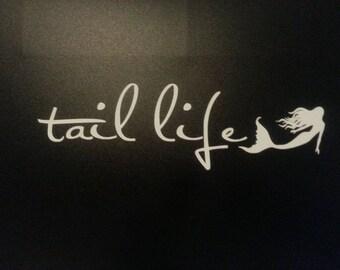 Tail Life Mermaid Die-Cut Decal Car Sticker