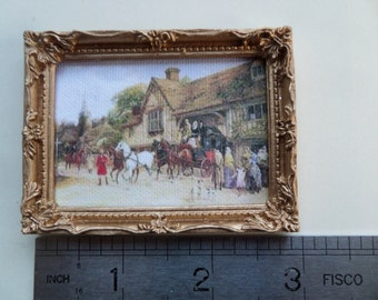 1:12th Picture/Mirror Frame in Gold Dolls House Miniature Accessory/Wall Hanging