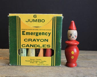 Vintage 1950s Emergency Crayon Candles // 6 Colors and Scents