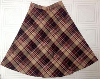 Vintage wool blend skirt