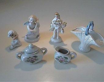 Lot of vintage 1950's ceramic miniatures figurines - Japan