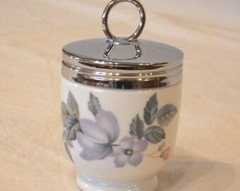 Single Royal Worcester June Garland Porcelain Egg Coddler Standard Size -A