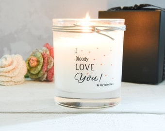I Love you scented candle, Gift For Wife, Gift For Husband, Valentines Gift, Love Candle, Scented Candle, Anniversary Gift, Birthday Gift