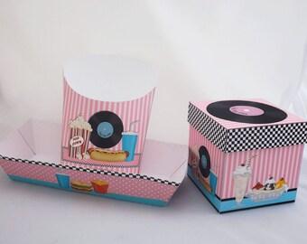 Digital Printable Hot Dog Tray - 50s Style Hot Dog Tray - Retro Hot Dog Tray - Snack Tray - Food Tray