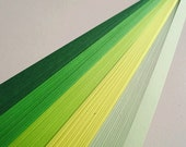 Green And Yellow Mixed Origami Lucky Star Paper Strips Star Folding DIY - Pack of 100 Strips