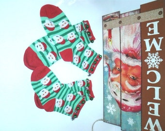 Boys Unisex Santa Christmas Socks wJingle Bells,Christmas,Photo Prop,Santa Jingle Bells,
