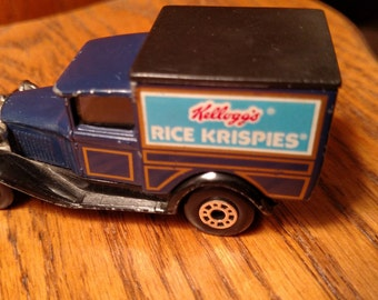 Matchbox car.  Vintage Kellogg's Model A car.