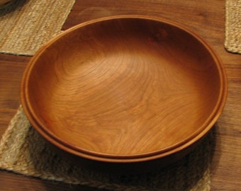 Large Cherry  bowl with double lip