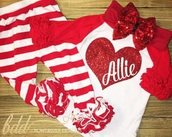 Valentine's Day Ruffle Pant Set