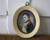 Napoleon portrait, small French painting, French decor