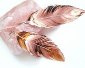 Bohemian Earrings, Boho Earrings, Feather Earring, Boho Bridal Earrings, Bridal Accessories, Bridesmaid Gifts,  Large Feather Earrings, boho