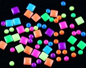 Nails Art 3D Neon Color Rivet Tips Studs Decoration