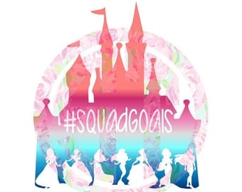Princess Squadgoals Squad Goals #squadgoals editable vector Cut File .svg  .eps .ai .dxf and .pdf formats included INSTANT download
