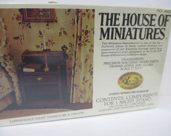 The House of Miniature Furniture Kit Chippendale Night Stand sealed un-opened kit 40012