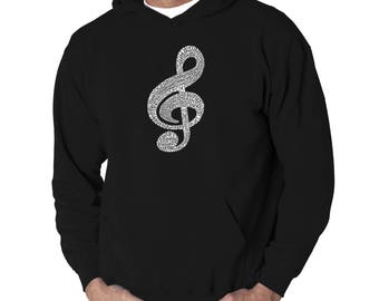 Men's Hooded Sweatshirt - Created Using a List of the Most Popular Classical Music Composers of All Time