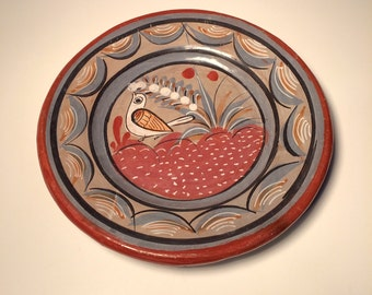 Handcrafted Mexican Bird and Yucca Pottery