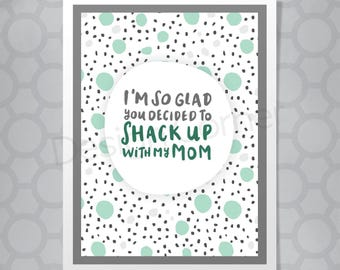 Funny Hand Lettered Stepfather Card