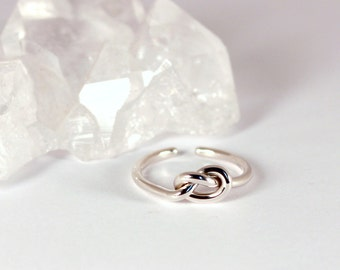 Adjustable Knot Style Toe Ring, Sterling Silver, Made to Order