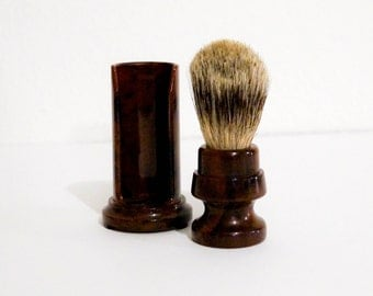Vintage Shaving Brush With Holder Badger Hair Made by Fuller