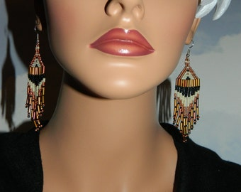 NEW Contagious Copper Beaded Earrings