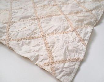 "Vintage Quilt Blanket 20x20""  - Newborn Photography Props"