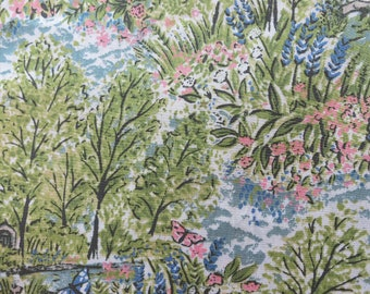 LIBERTY Of LONDON Tana Lawn Cotton Fabric  'Glencot House'  Fat Quarter 18 X 26 in
