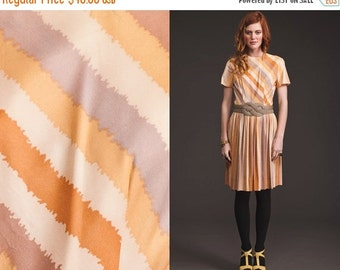 50% OFF ENTIRE STORE Vintage Striped 60s Pleated Dress // Full SKirt // Preppy // Chevron // Navajo print // Pastels
