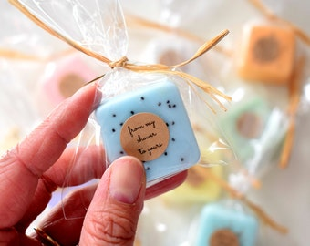 50 Wedding Favors - soap favors - Party Favors -Bridal Shower - Party Favors - Rustic Wedding - Custom Wedding Favors in your Wedding colors