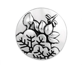 1 PC 18MM Dragonfly Flowers Silver Candy Snap Charm Limited Edition CC3124
