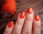 Suck My Nuts - Walking Dead Abraham inspired custom orange iridescent shimmer glitter nail polish