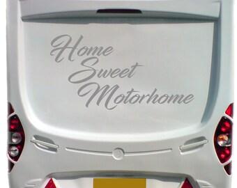 Home Sweet Motorhome Caravan Sticker Classic Decal Graphics Slogan Transfers Trailer Personalised Motorhome Custom