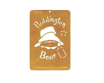 Paddington Bear Licensed Brass Stencil by American Traditional in 1998