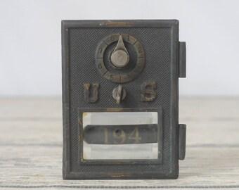 Antique/ Vintage US 194 Postal Box Door Postal Door Early 1900s