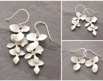 Mother Daughter Orchid Earrings, orchid earrings, mom and daughter, bridesmaid earrings, matching earrings, mothers day gift, N10