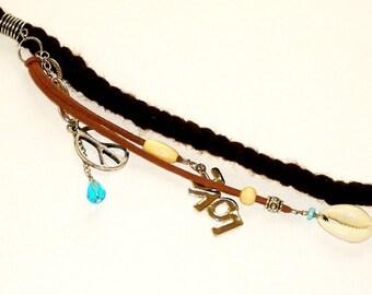Dreadlock Jewelry - Love and Peace Sign Charm Loc Jewel