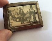 Antique  Match Safe Case with Photograph. Vesta Case,  Rare Find